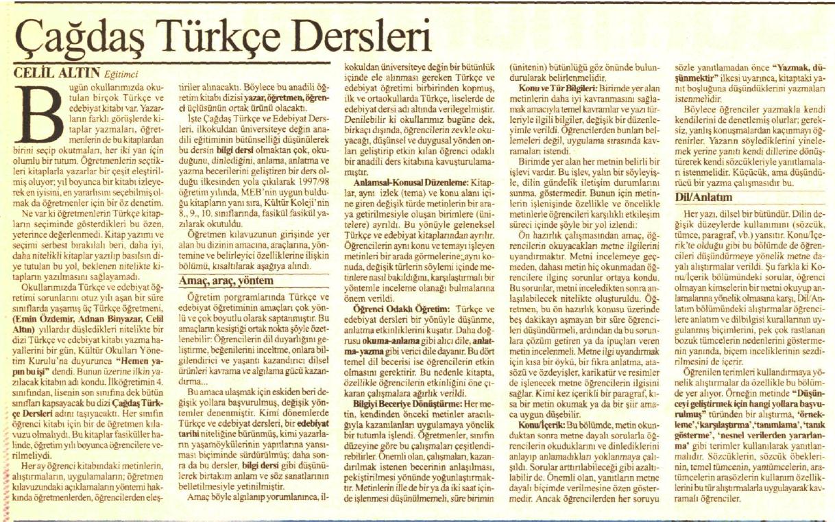 PISA Sonuçları ve Yapılması Gerekenler | ağdaş Türkçe Dersleri Cumhuriyet