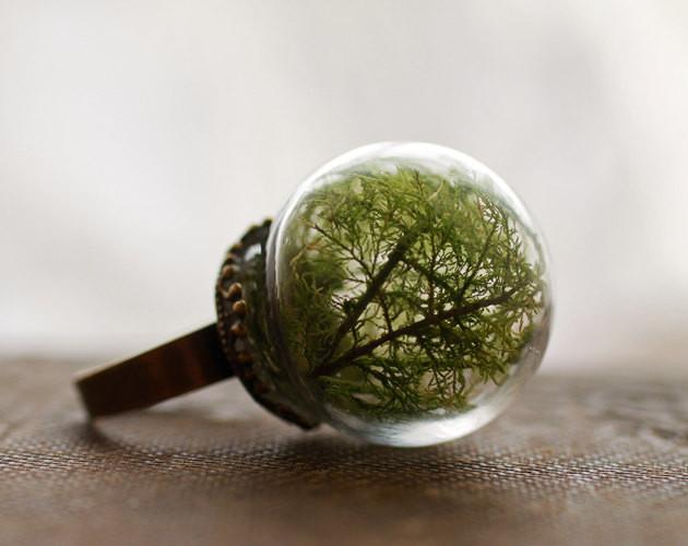 İlginç Yüzük Tasarımları | Ağaçlı Yüzük