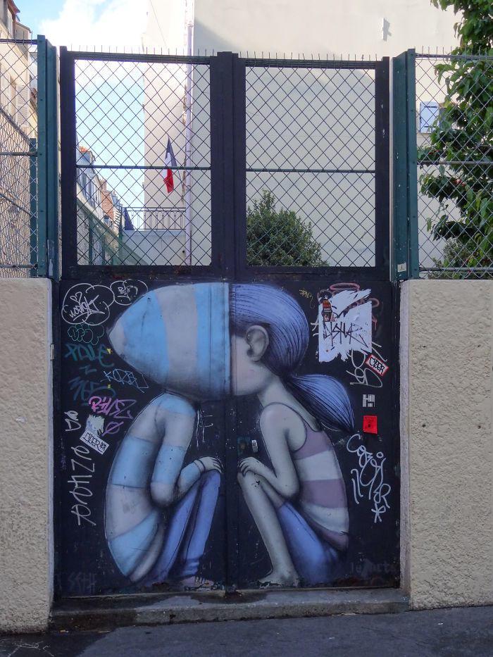 Harika Kapı Fotoğrafları | Paristeki Bir Bahçe Kapısı