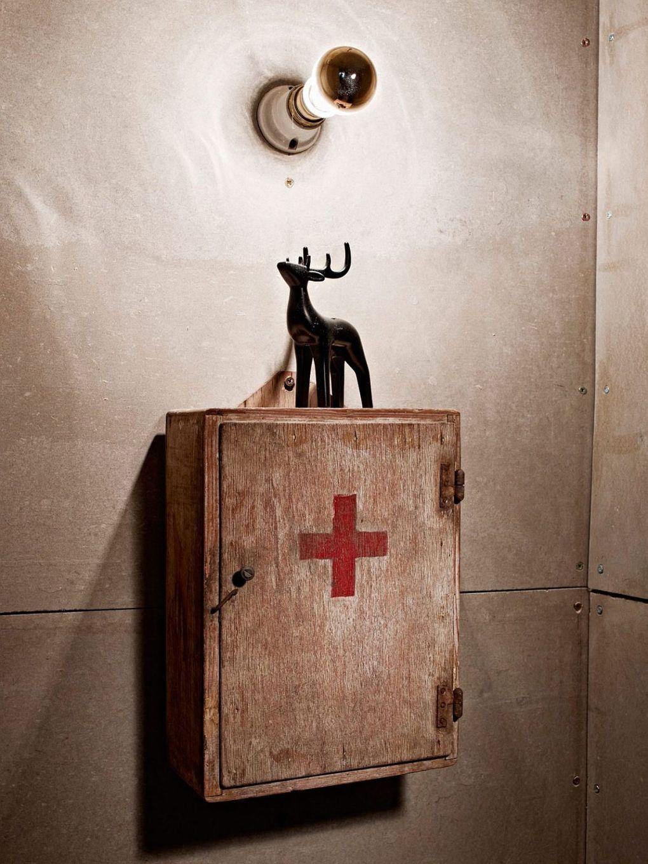 Ressam Evi | Vintage medicine cabinet for the industrial modern bathroom 1