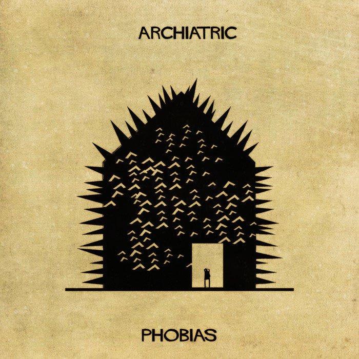 Akıl Hastalarının İç Dünyası | architectual mental illness illustrations archiatric federico babina 2 58aa99e082753 700 1