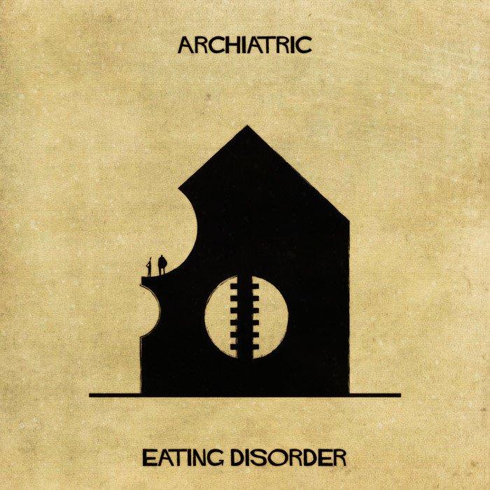 Akıl Hastalarının İç Dünyası | architectual mental illness illustrations archiatric federico babina 3 58aa99e4358fd 700 1