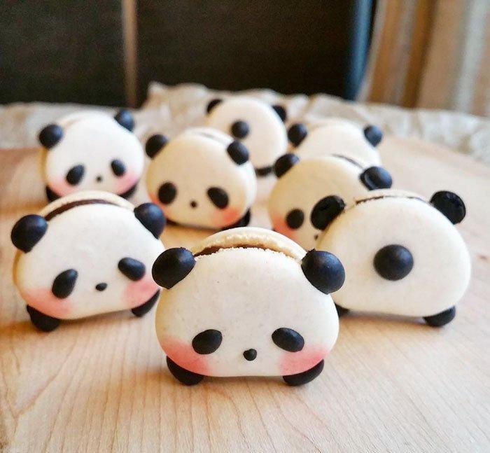 Kurabiye Şekilleri | cute panda macaroons melly eats world 23 1