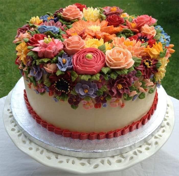 Çiçekli Pasta Modelleri | spring colourful buttercream flower cakes 89 58d8d5a563b1a 700 1