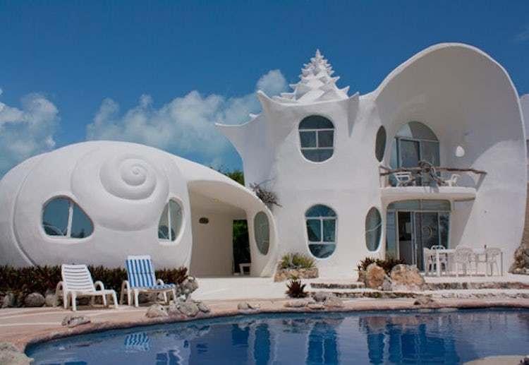 Dünyanın En Güzel Evleri | Isla Mujeres Deniz Kabuğu