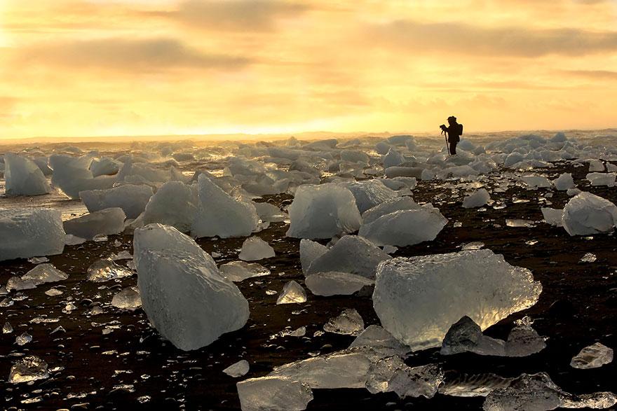 Sıradışı Kumsallar | zlandadaki Buzlu Sahil