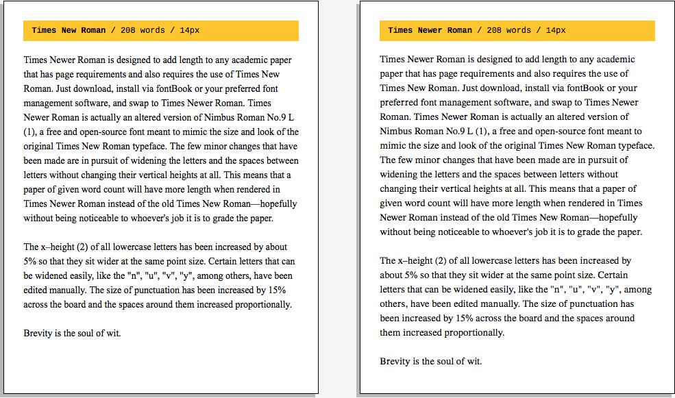 Times New Roman Yenilendi! | Font Karşılaştırması