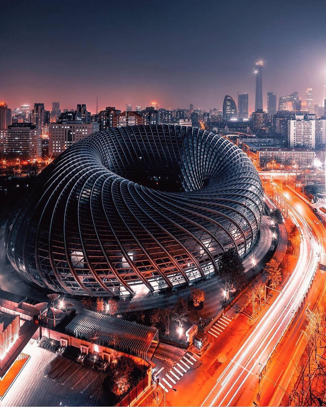 Devasa Yapılar: Pekin TV Binası | Gece Görünüşü