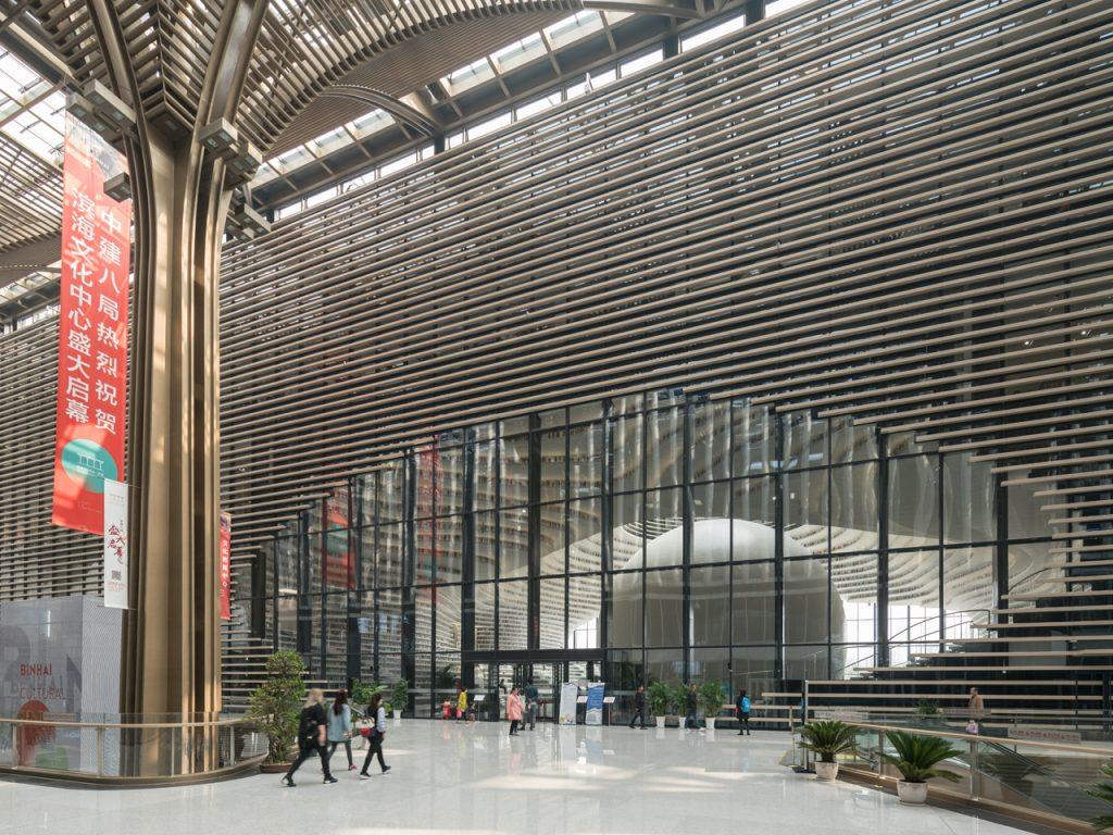 Sıradışı Çin Kütüphanesi | Kütüphanenin Geniş Holü