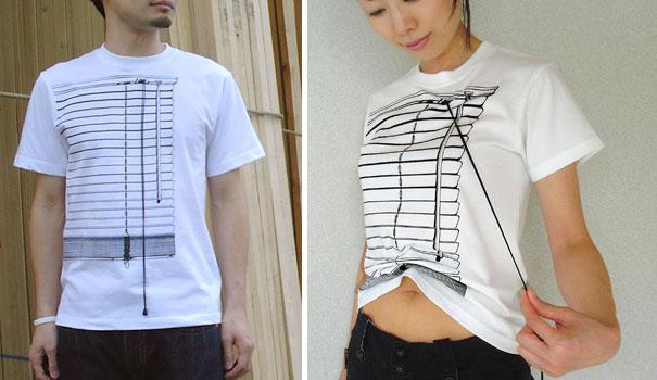 Yaratıcı Tişört Tasarımları | Stor Perde Biçiminde Tişört