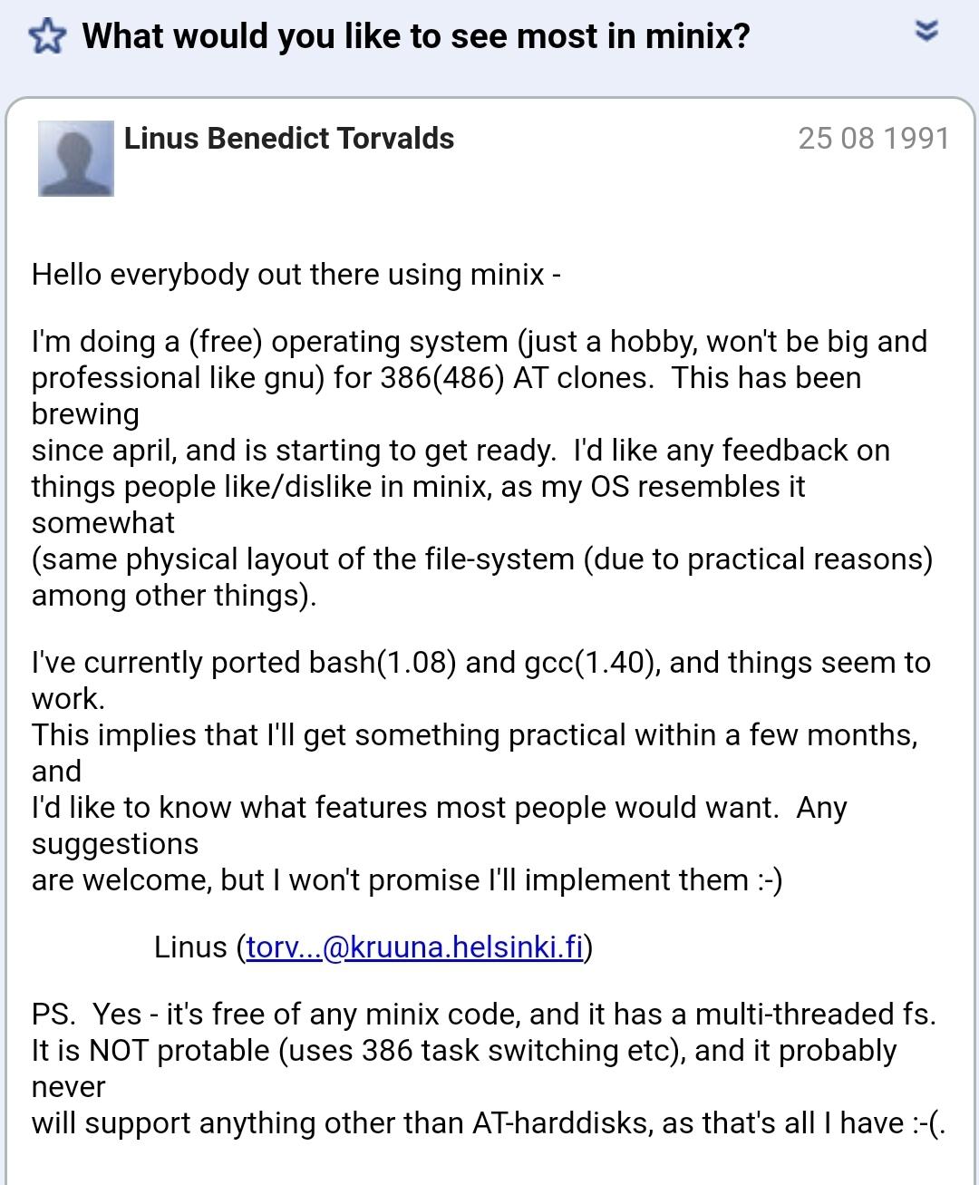 Linux Nasıl Ortaya Çıktı? | Linuxun Ortaya Çıkışı