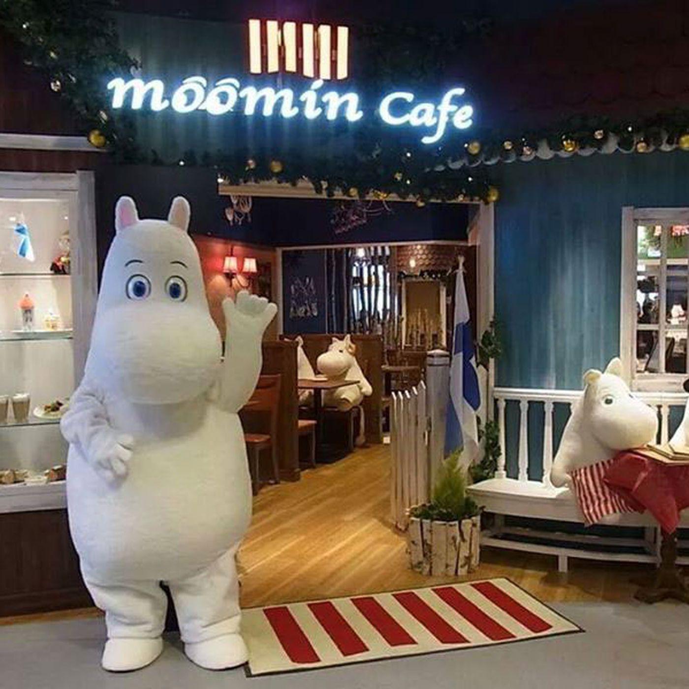 Japonya'da Yalnız Yemek Yiyen İnsanlar İçin Açılan Moomin Cafe   Moomin Cafenin Girişi