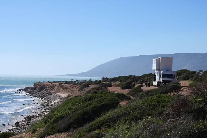 Mobil Otel Portekiz sahillerinde.
